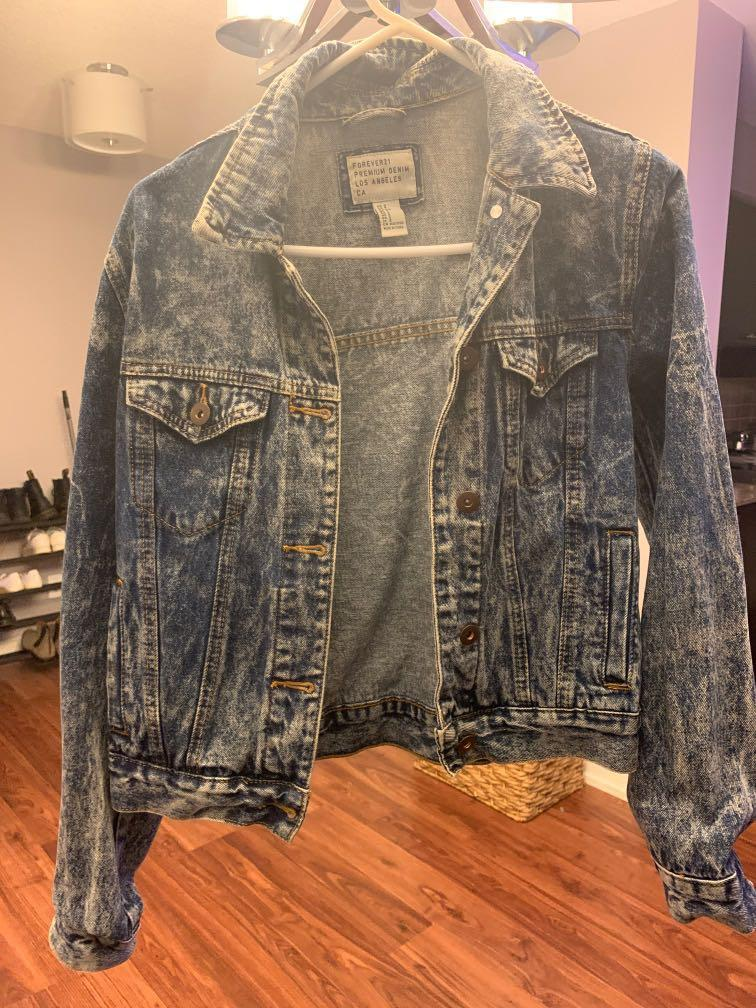 Forever 21 Acid Wash denim jacket