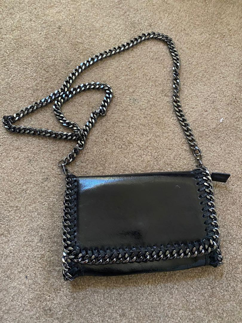 Genuine Leather purse with chain - Made in Italy