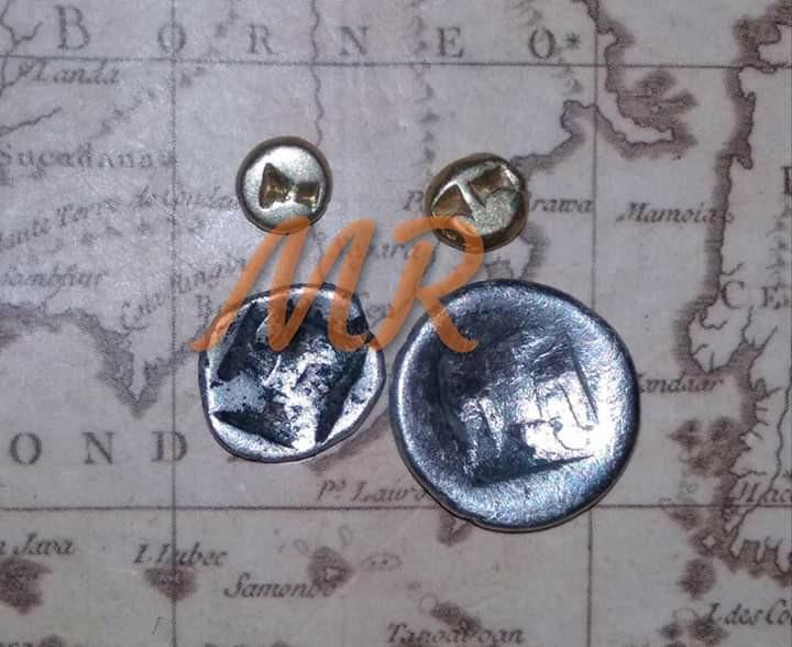 Gold Coin And Silver Majapahit