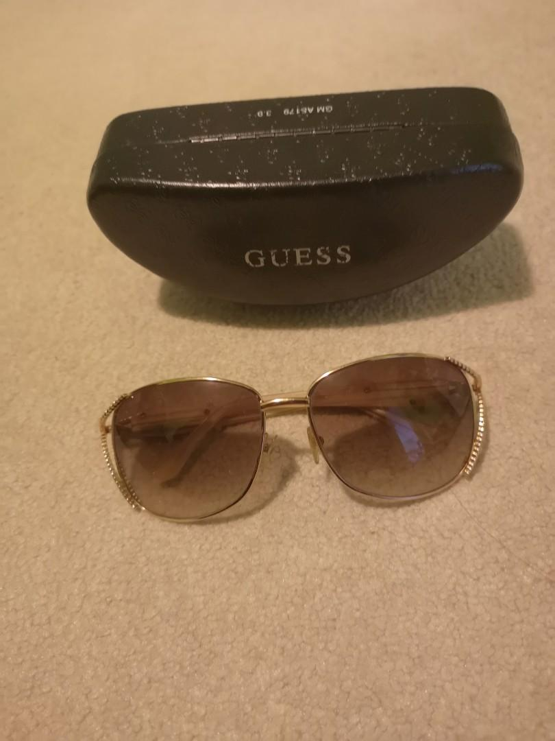 Guess gold rimmed sunglasses