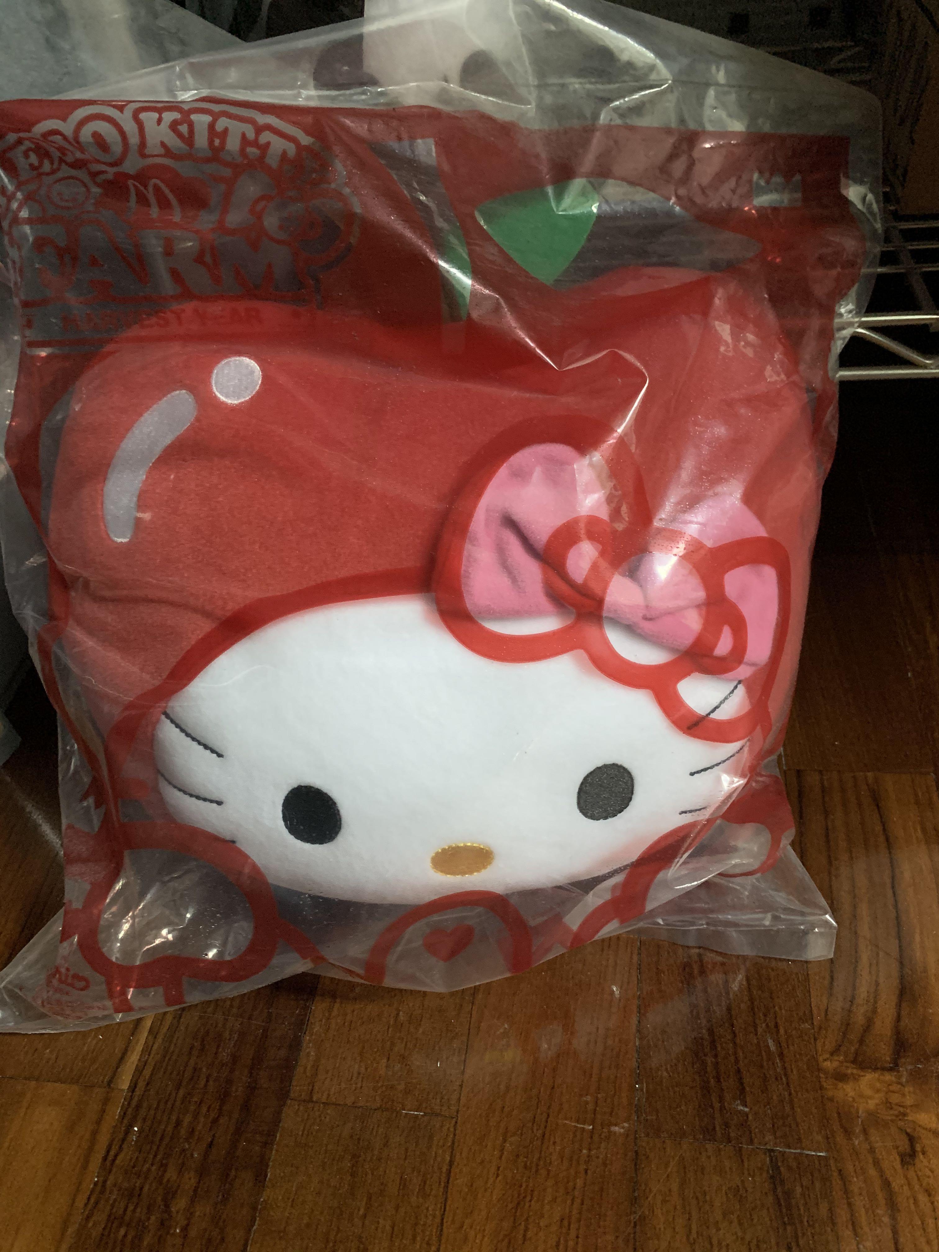 (蘋果、乳牛造型)麥當勞🍔聯名Holly kitty抱枕(全新)兩個只賣500元