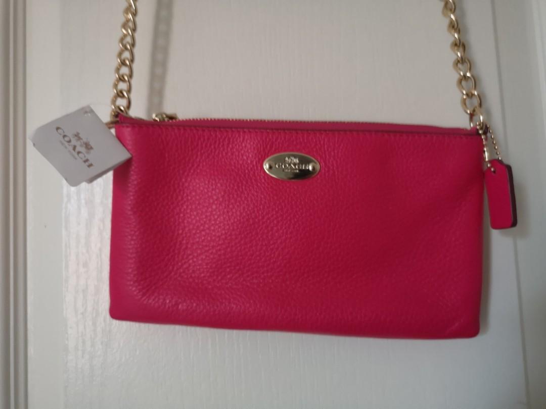 hot pink coach purse