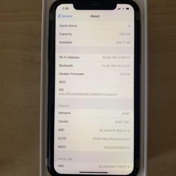 Iphone 11 black 265gb