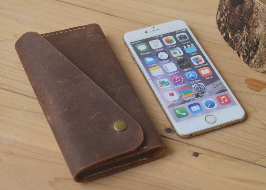 Leather Wallet iPhone Case