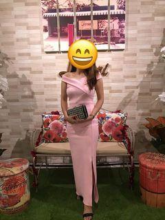 Long Dress Baby Pink Dress Kondangan