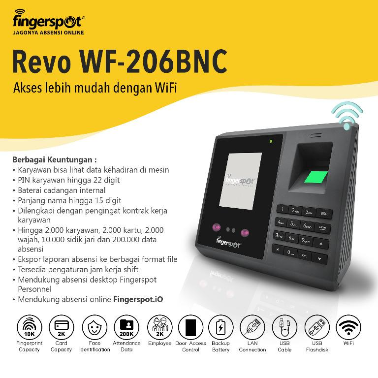 Mesin Absensi Fingerspot Revo WF-206 BNC