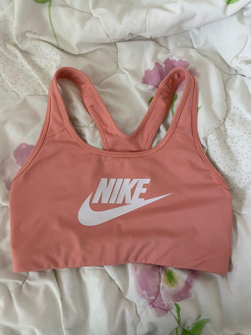 NIKE peach sports bra- size M
