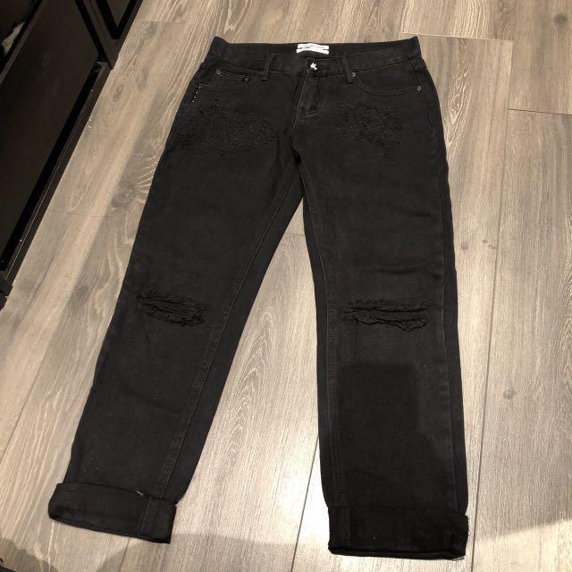 One teaspoon awesome baggies boyfriend jeans BLACK size 25