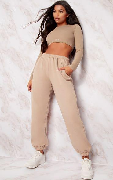 Pretty Little Thing Taupe Joggers