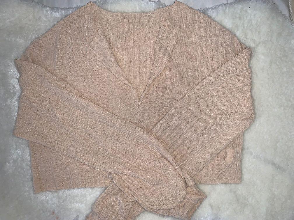 shein cream sweater size s