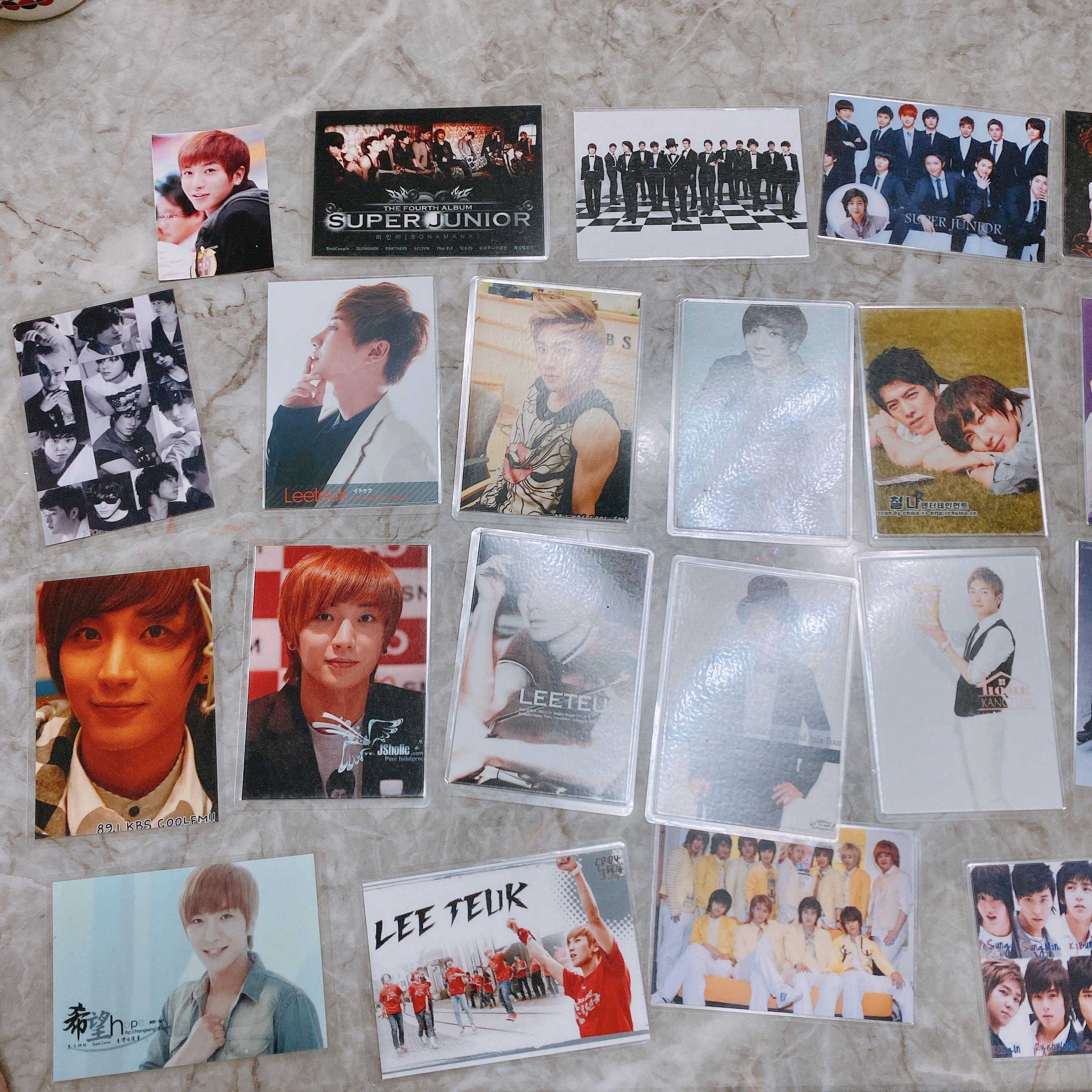 Super Junior 小卡和照片 有一些利特 SJ SUJU