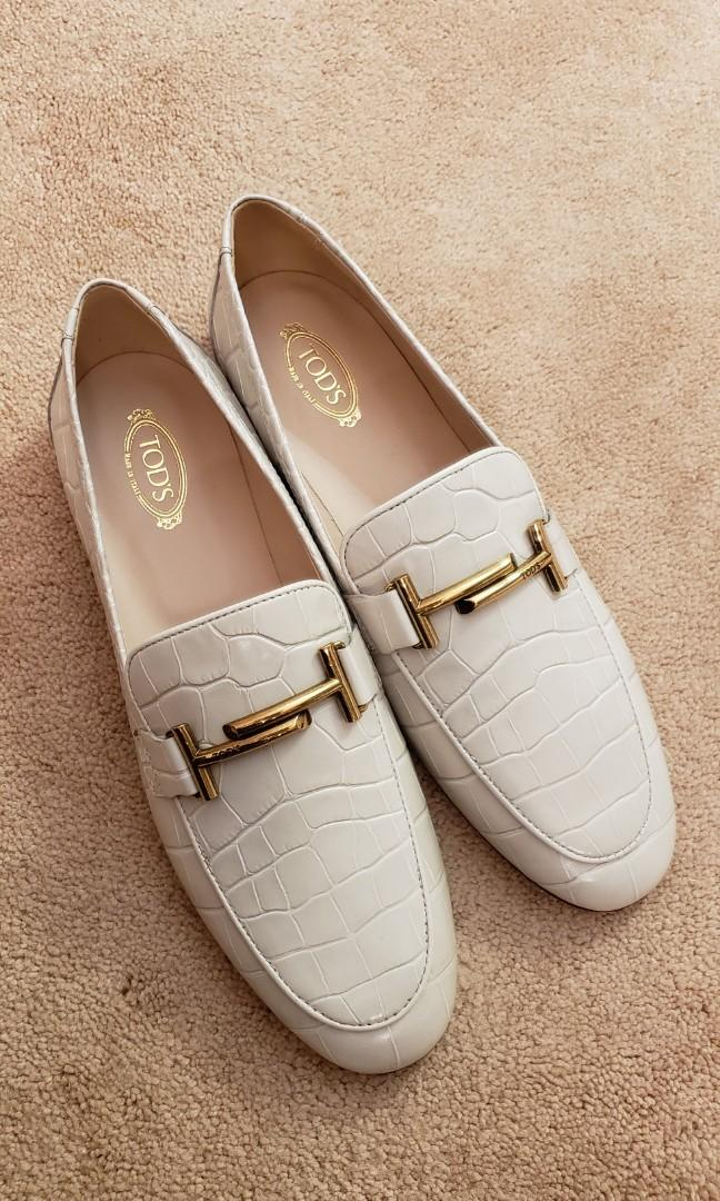 Tod's white loafer women shoes
