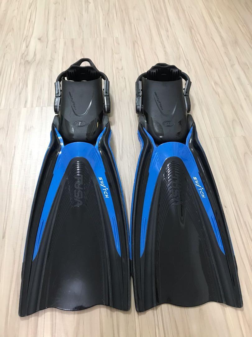 TUSA HyFlex SWITCH 藍 潛水/浮潛 蛙鞋 SIZE S 輕量化 近全新 可拆卸 SF-0104