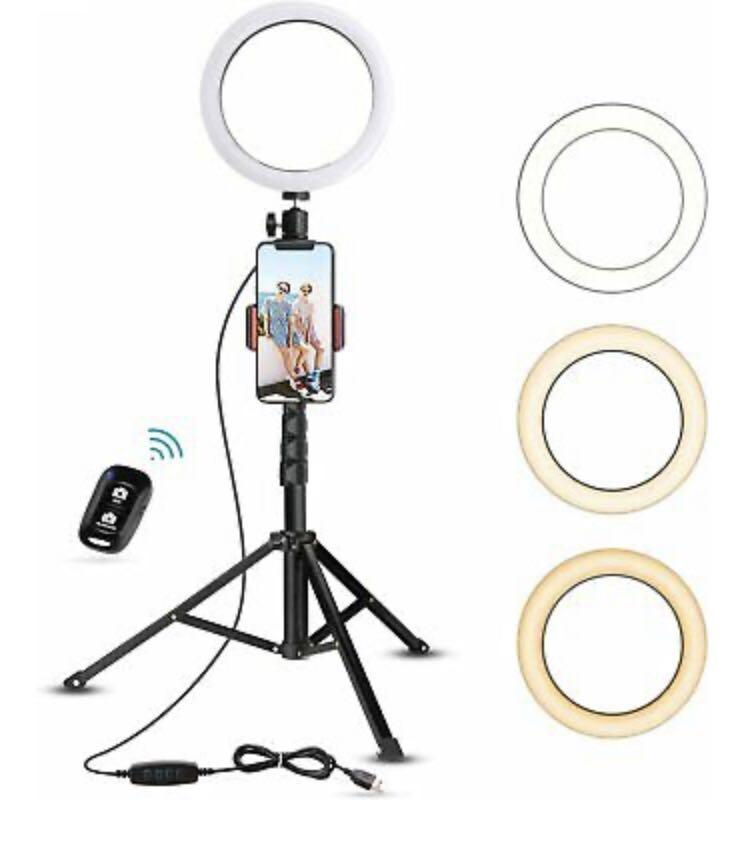 UBeesize 7.9 inch Ring Light with Tripod Stand