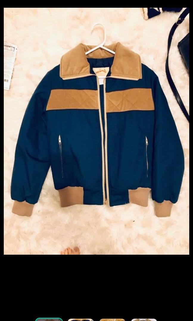 Unisex vintage puffer corduroy jacket