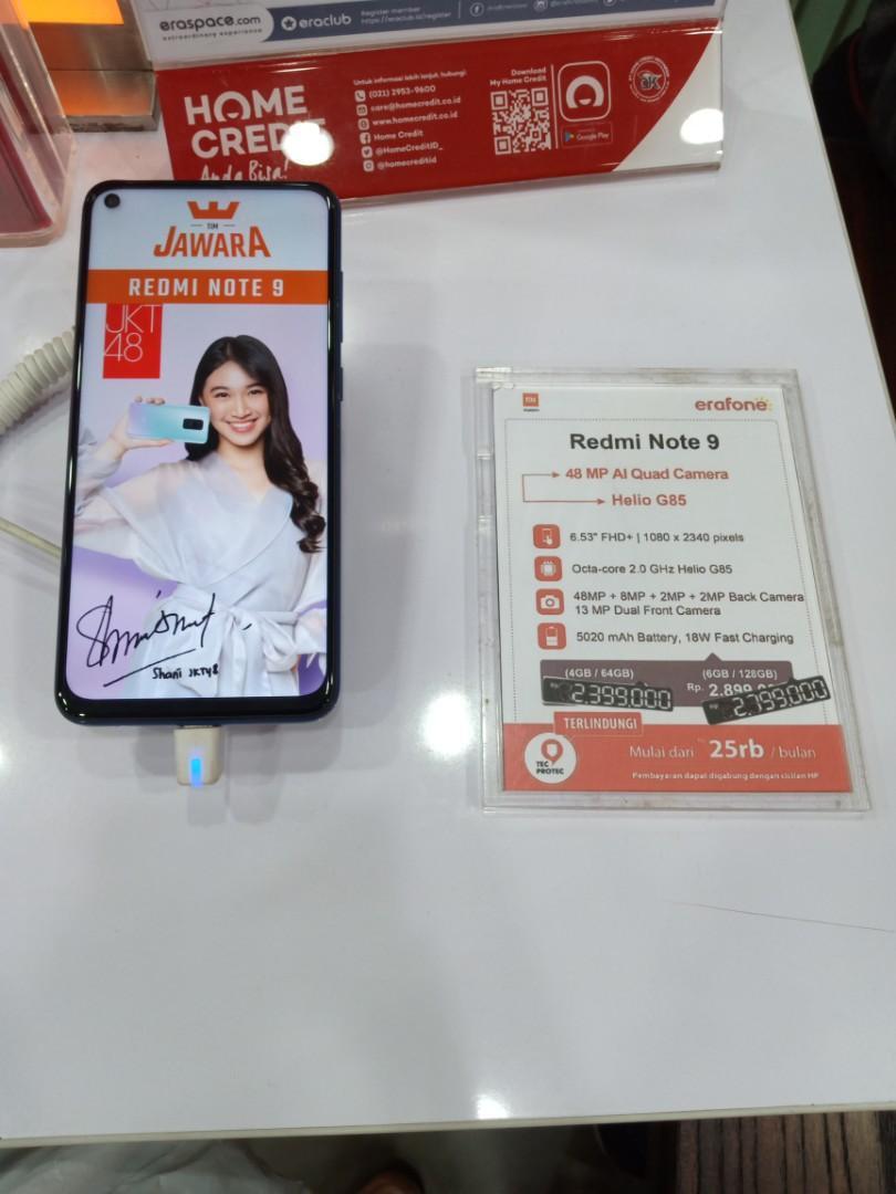 Xiaomi Redmo Note9 6/128, Cicilan Proses 3 Menit