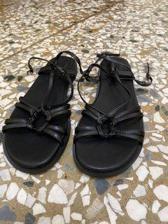 全新韓國皮質軟平底涼鞋#24