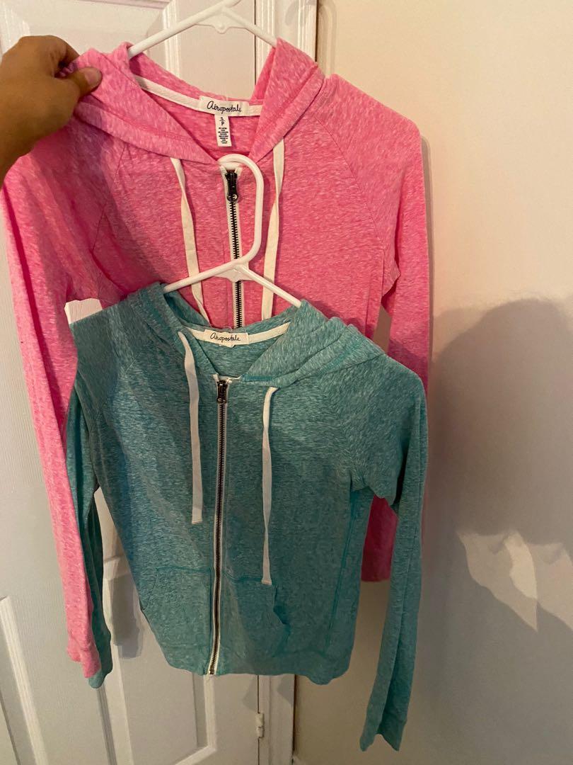 2 zip up hoodies