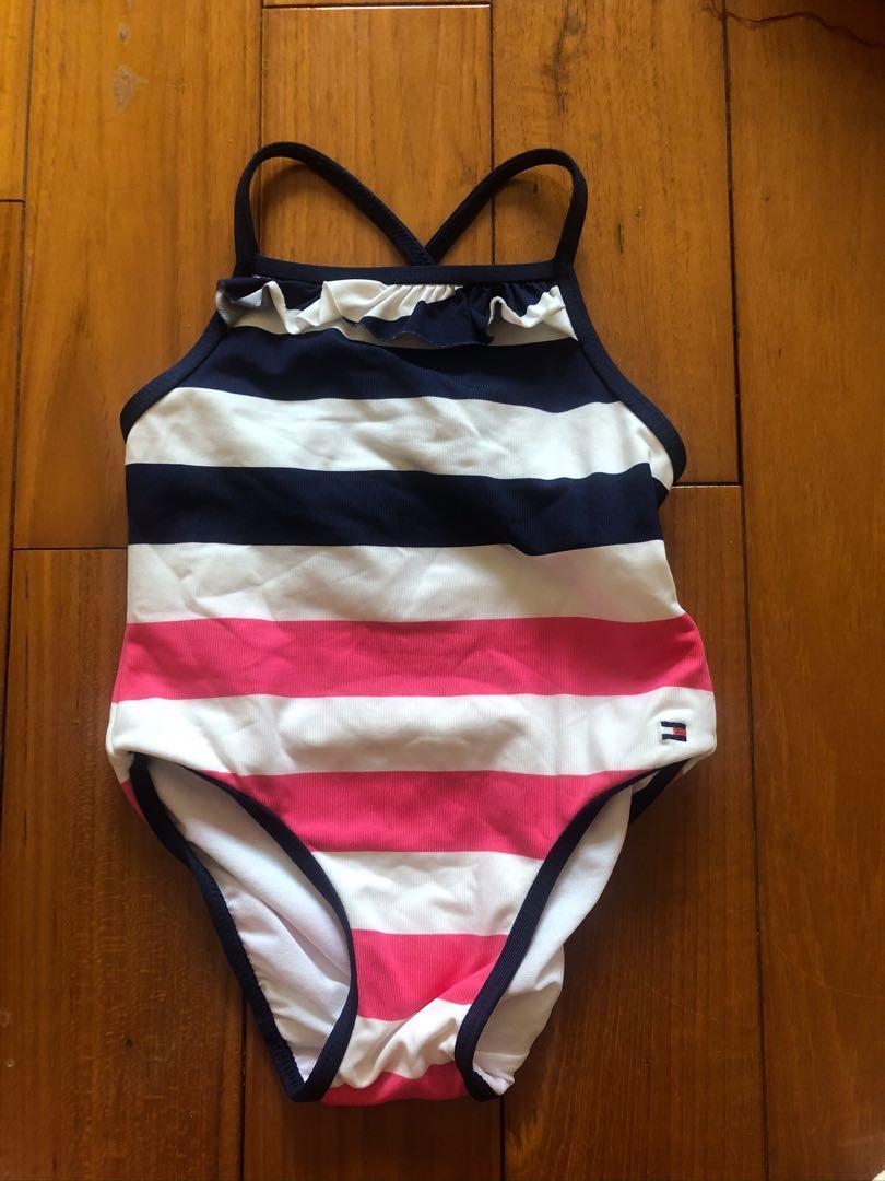 3件折50   Tommy Hilfiger 條紋泳衣 贈防曬泳帽