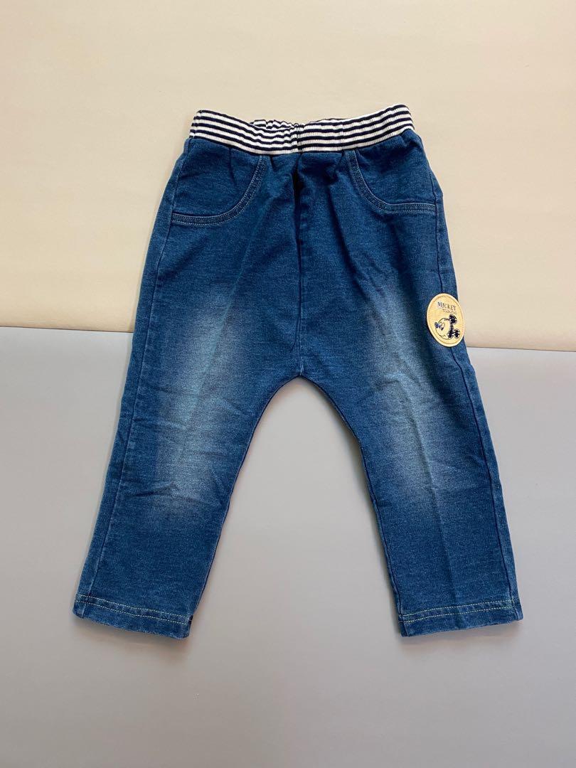 麗嬰房迪士尼聯名款米奇仿牛仔棉長褲