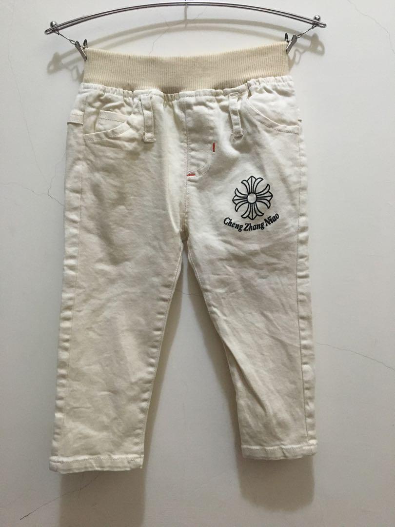 米白色長褲