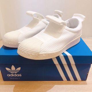 Adidas 繃帶小白鞋 Superstar slip on BY2949