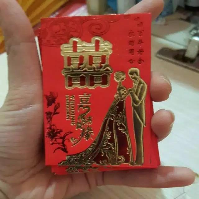 Angpao Wedding  Kecil 6cm x 8 cm