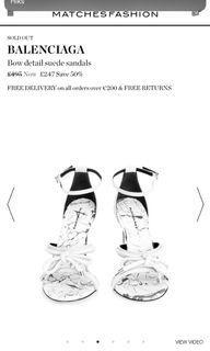 Balenciaga Bow Suede sandals in BLACK