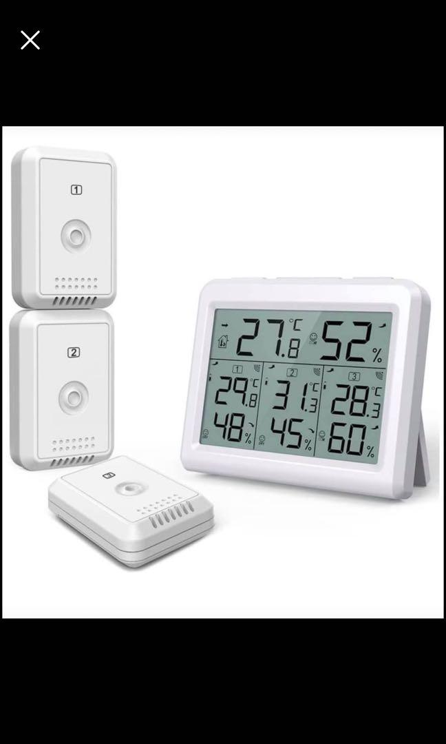 Brand new Indoor Outdoor Thermometer, Temperature Humidity Monitor with 3 Wireless Sensors