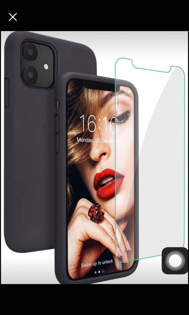 Brand new Silicone Phone 11Case with Free Screen Protector Gel Rubber Shockproof Full Protective 6.1