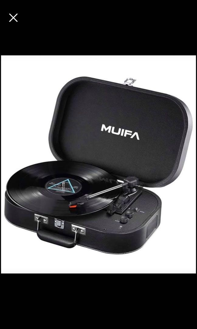 Brand new Stereo Turntable, Portable Belt Drive Bluetooth Vinyl Record Player with Built-in Speakers