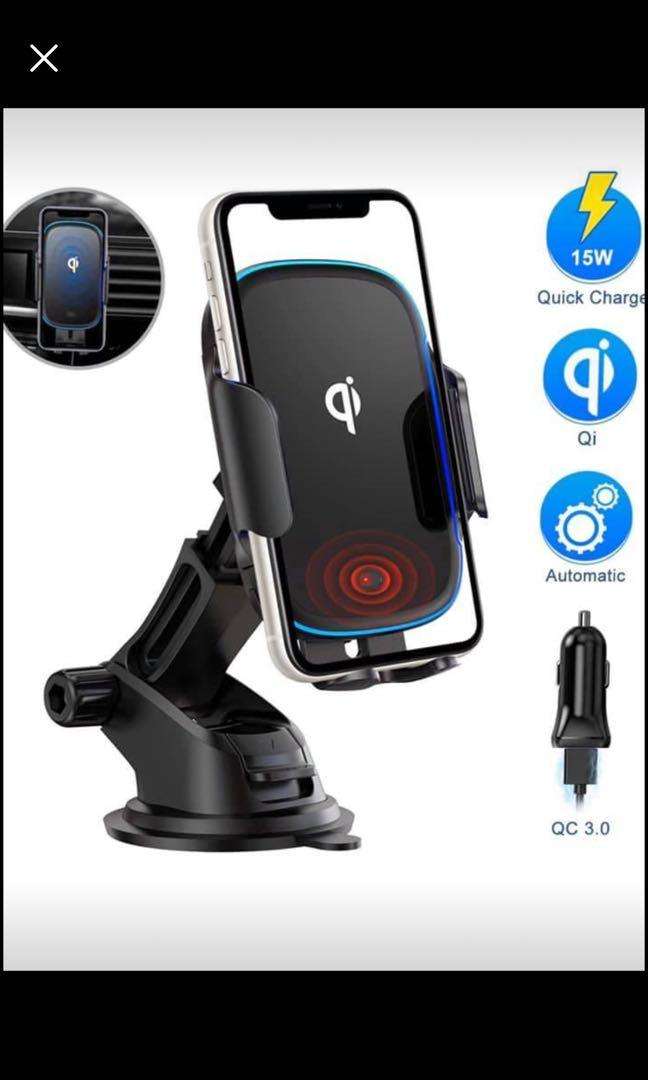 Brand new Wireless Car Charger Mount, Automatic Clamping Qi 15W wireless car phone holder