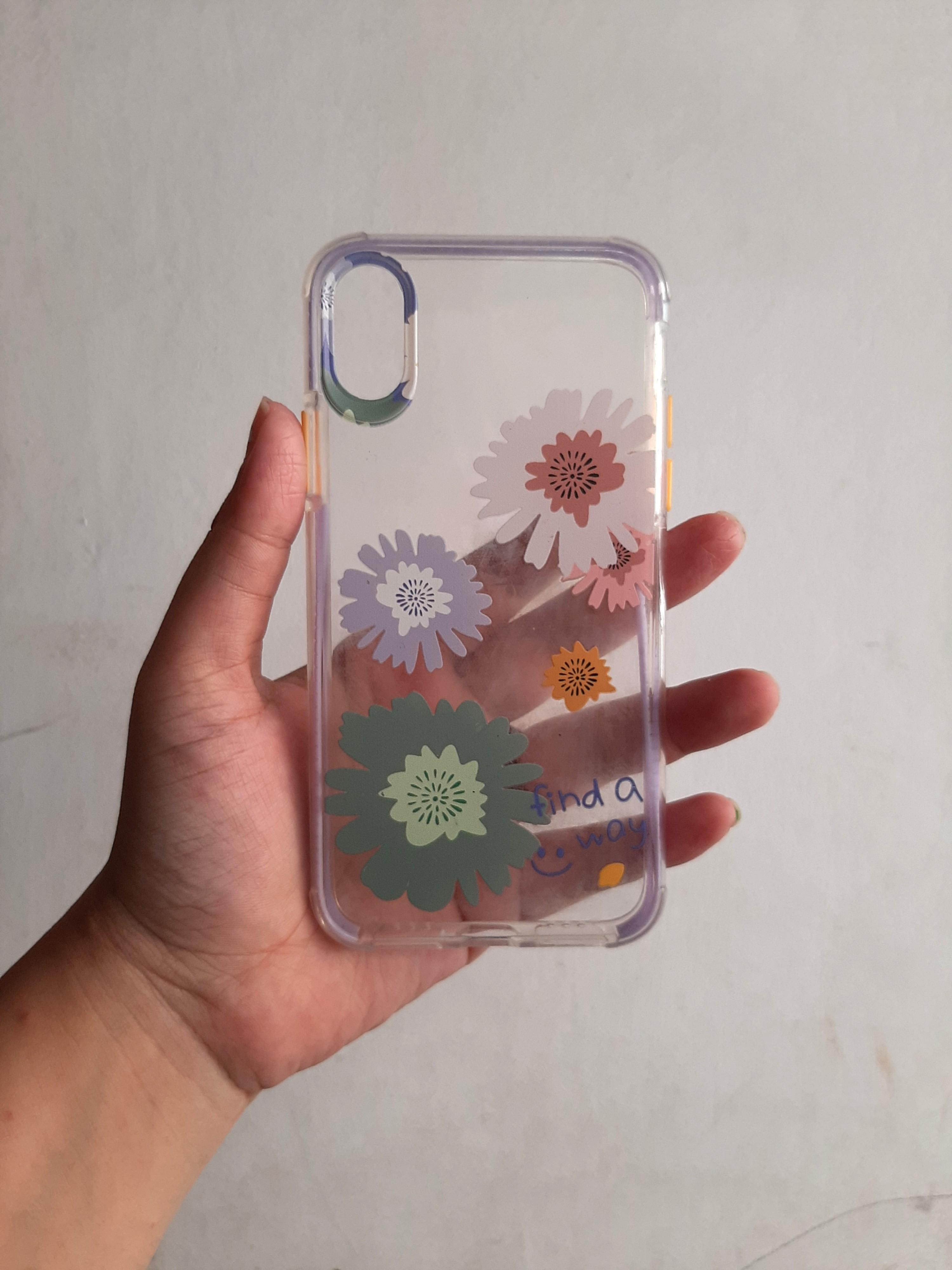 Case iPhone X flowers
