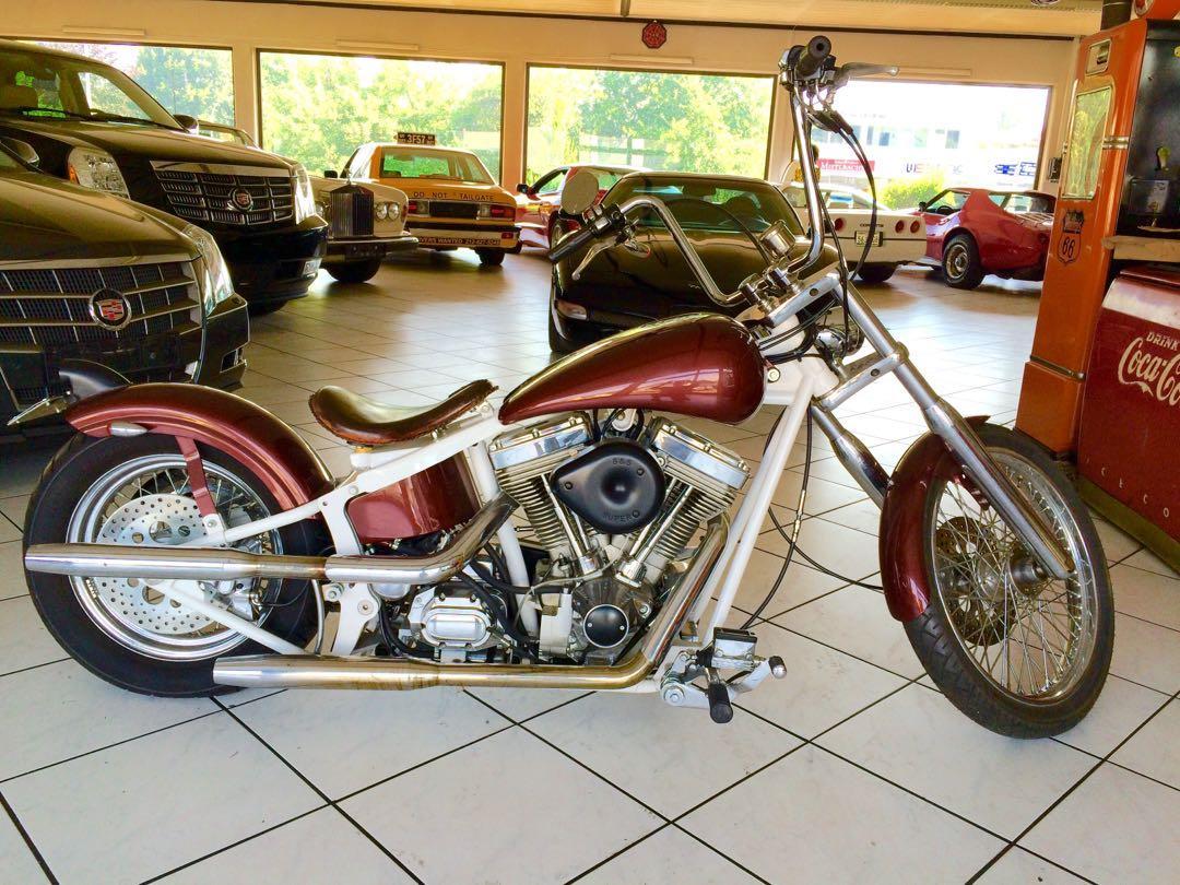 Custom performance motorcycle chopper