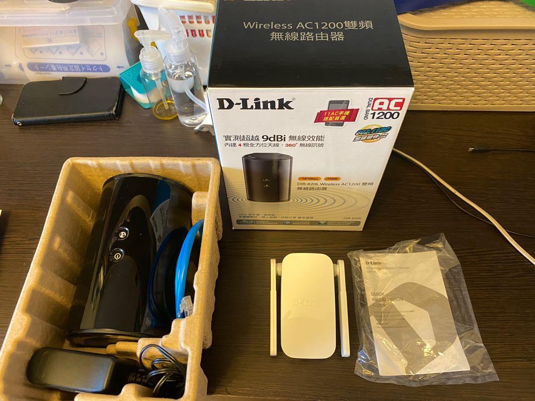 d link 無線路由器 無線延伸器 dir-820l dap-1610