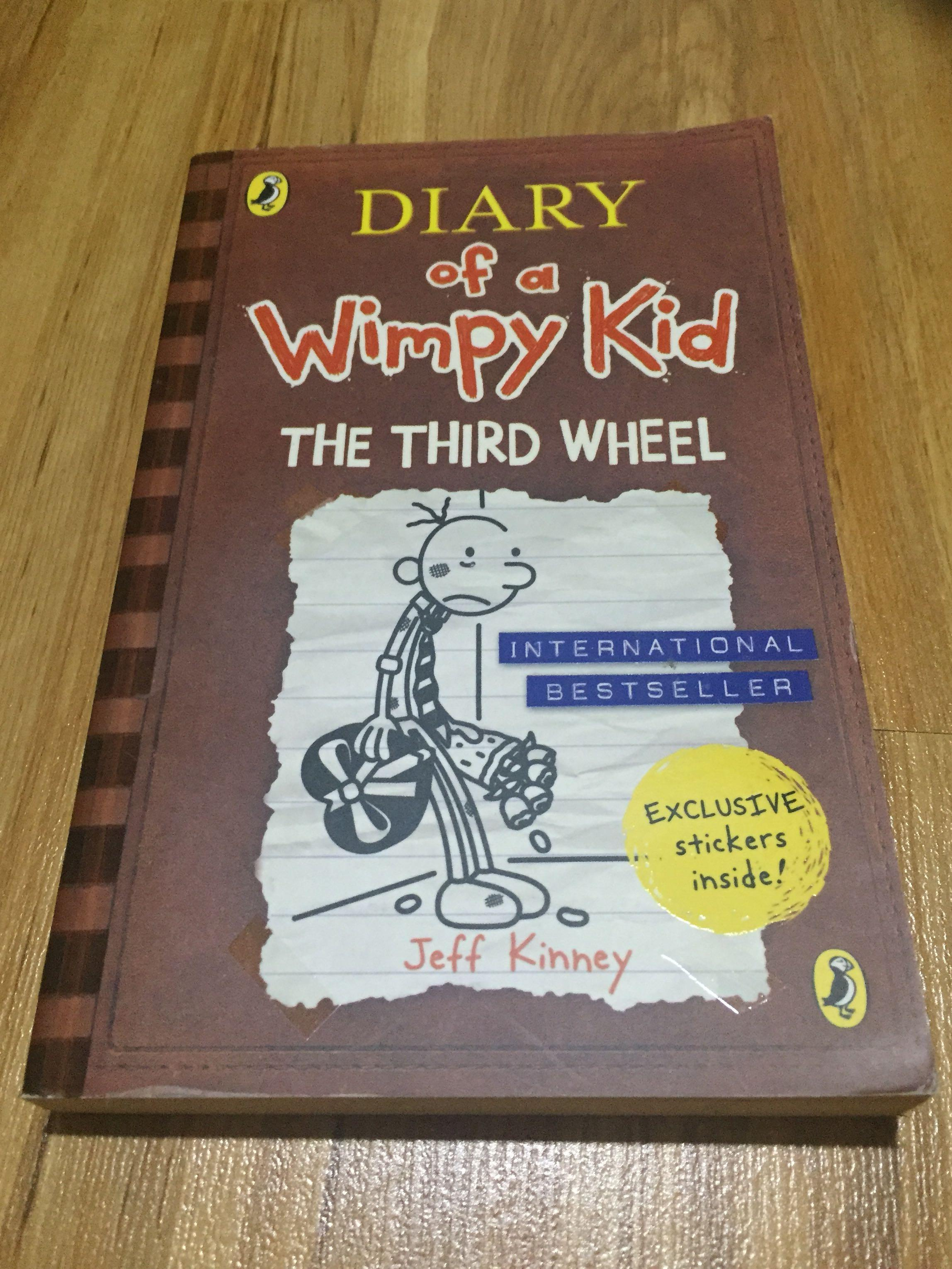 Diary Of A Wimpy Kid The Third Wheel Books Stationery Books On Carousell