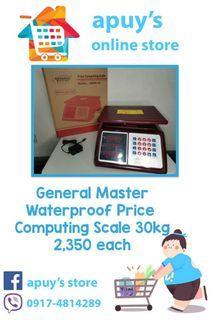 General Master Price Computing 30kg Waterproof