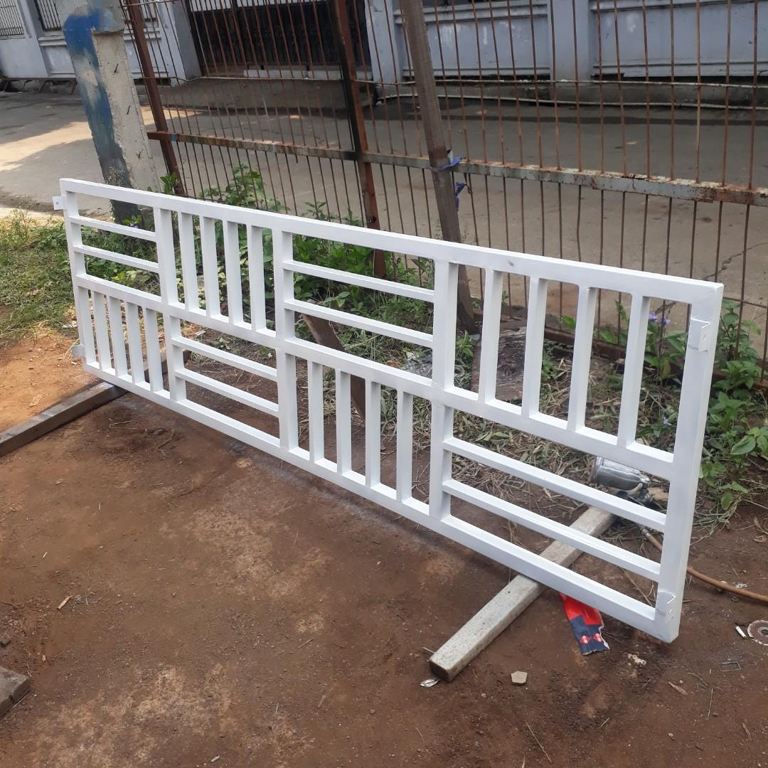 Jasa pembuatan teralis canopi pintu gerbang balkon dan railing tangga