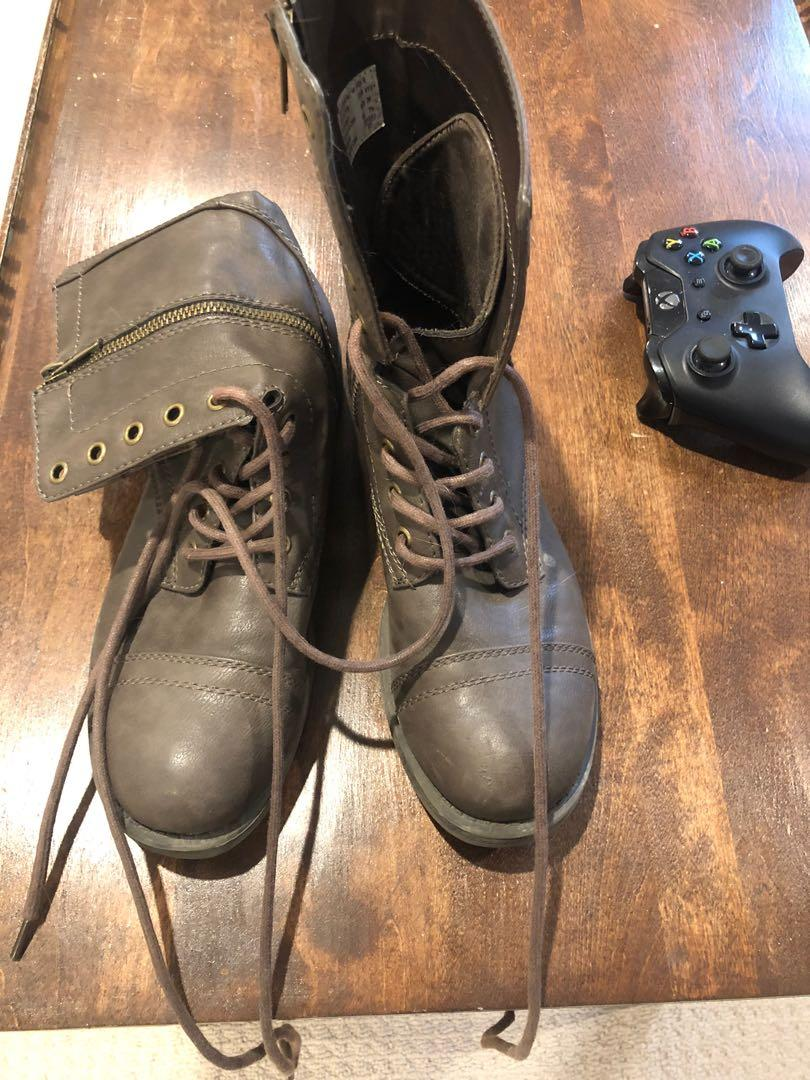 Lace up boots size 9