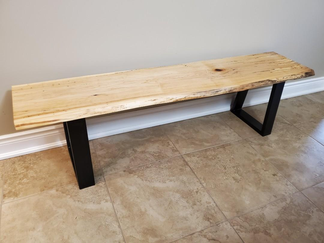 Live Edge Bench - Spalted Maple