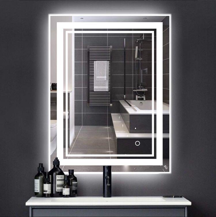 Longbrite 700x500mm Led Backlit, Long Bathroom Mirrors