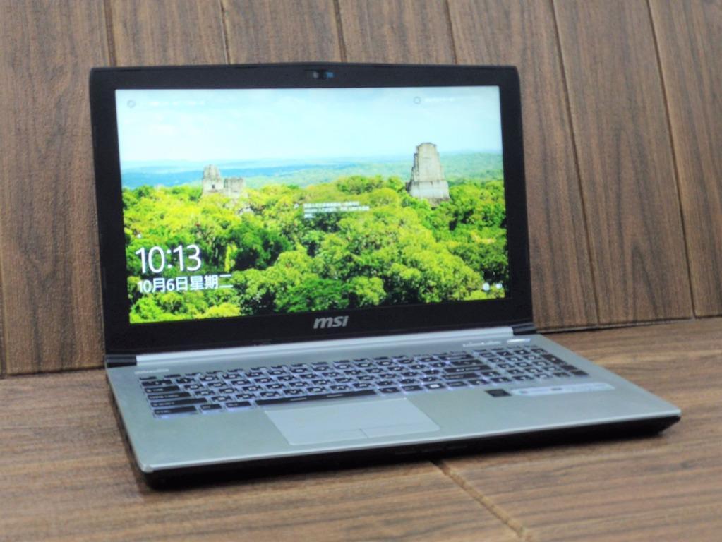 MSI電競 15.6吋 i7 5700HQ 8G 128G SSD + 1TB HDD  Win10 二手筆電 遊戲