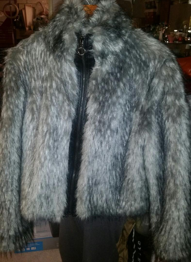 Ecko Unltd fur jacket coat Retail $450