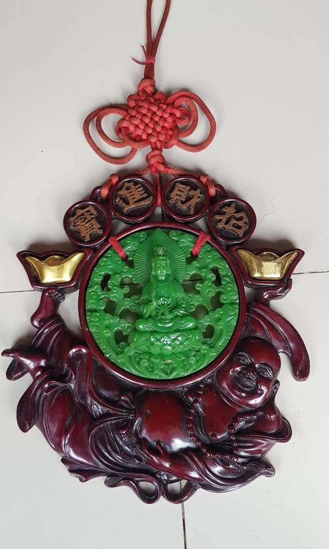 Pajangan antik dewi kwan im dan dewa julay
