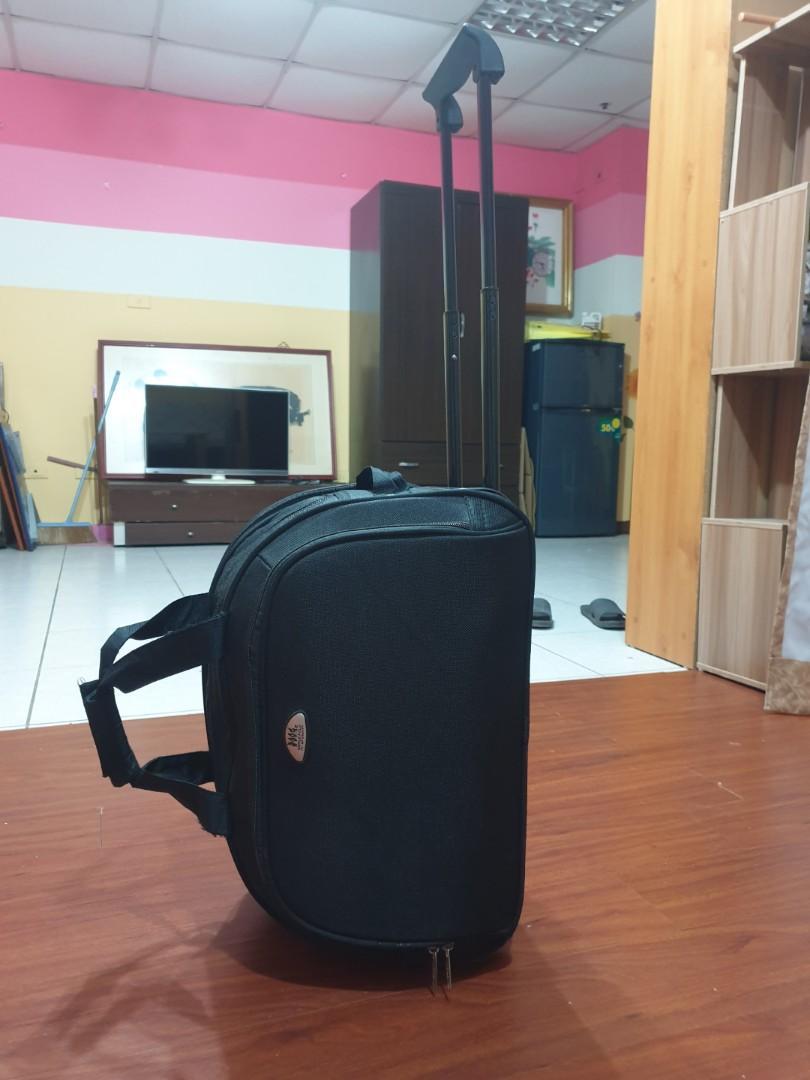 二手polo品牌行李袋/兩用型,附輪拉桿隱藏式設計可推拉省力