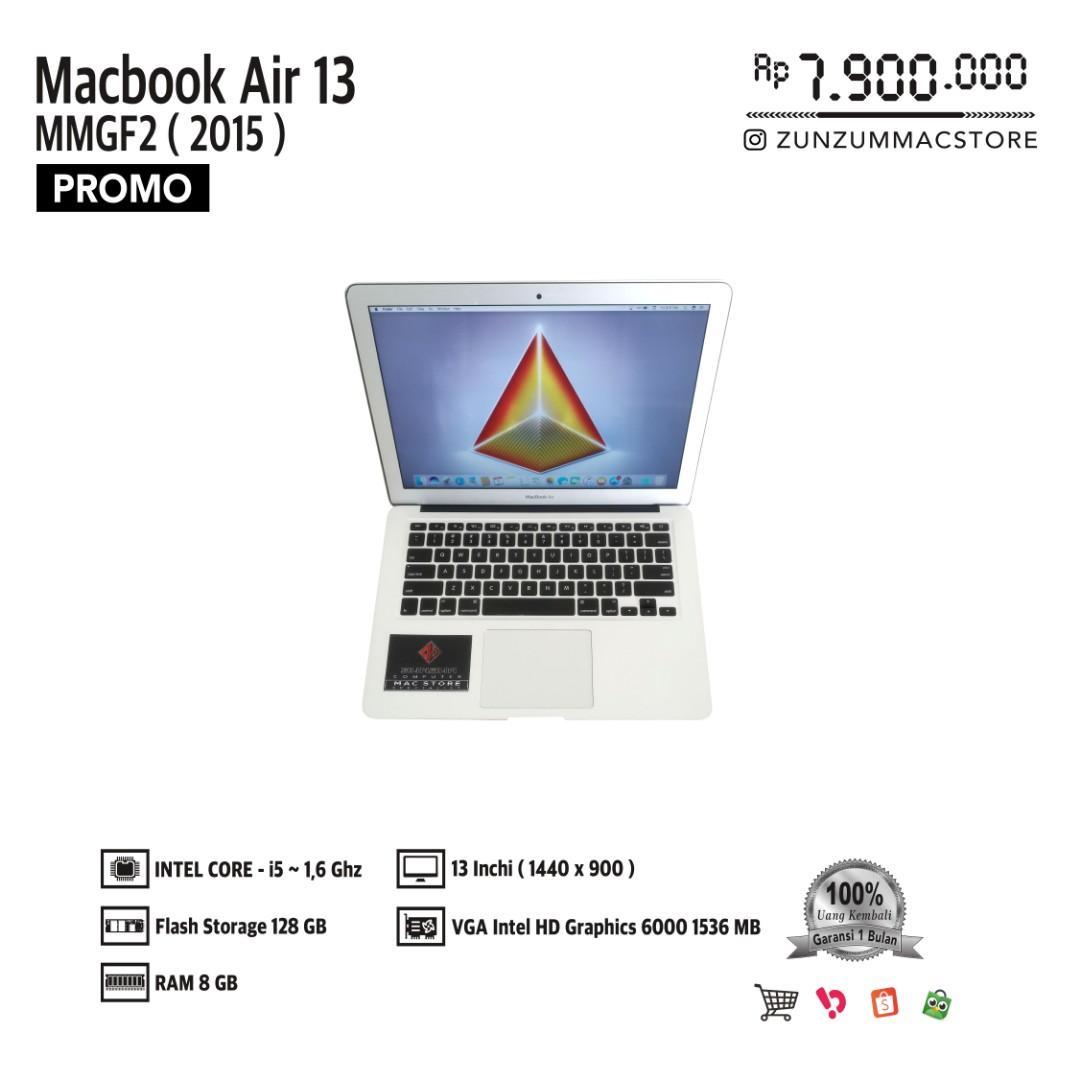 PROMO Macbook Air 13 MMGF2 MID 2015 Core i5 Ram 8 GB SSD 128 GB Murah
