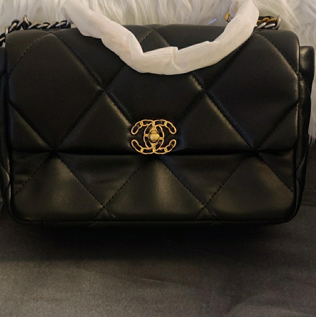 Quilted bag on chain