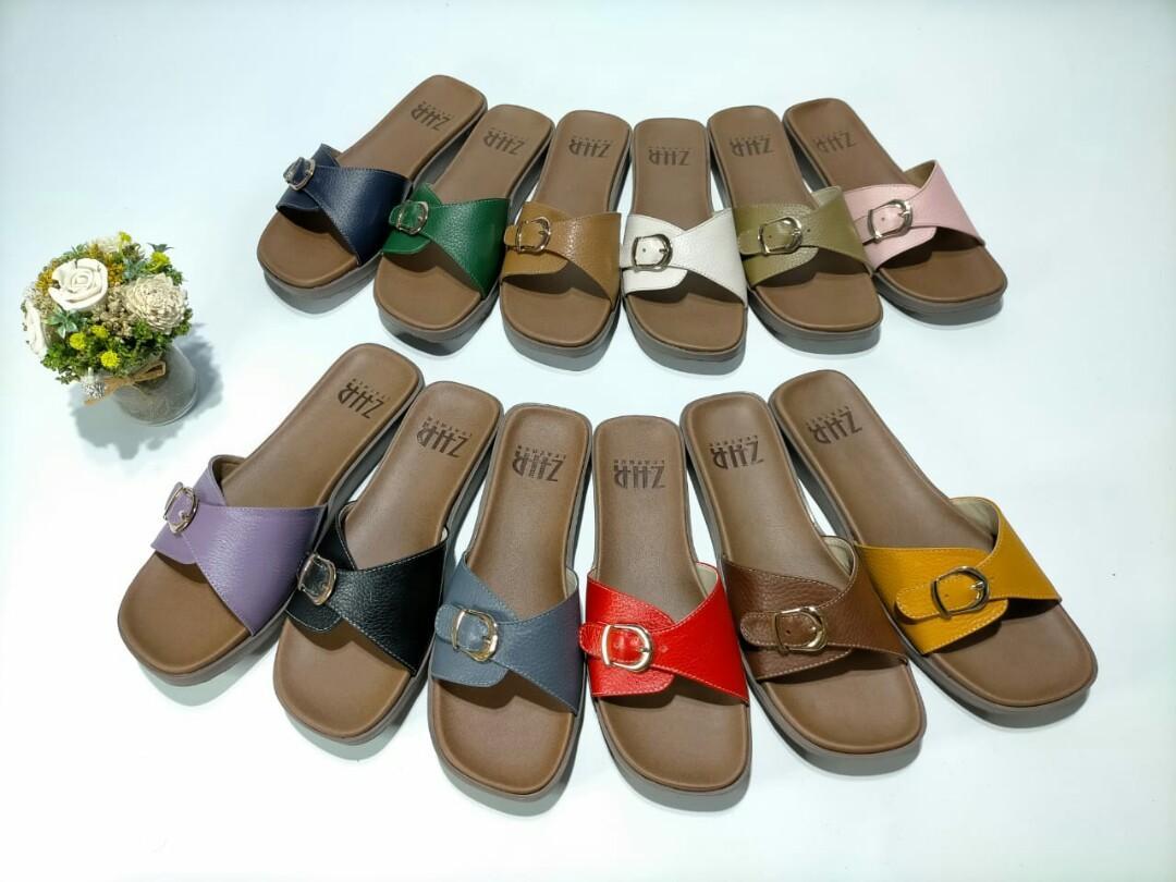Sandal kulit Asli sol premium