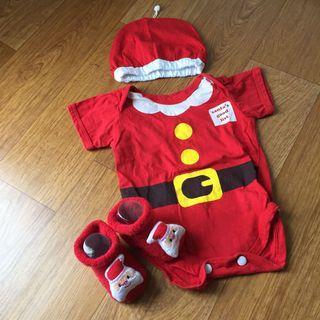 Santa romper / baju santa baby