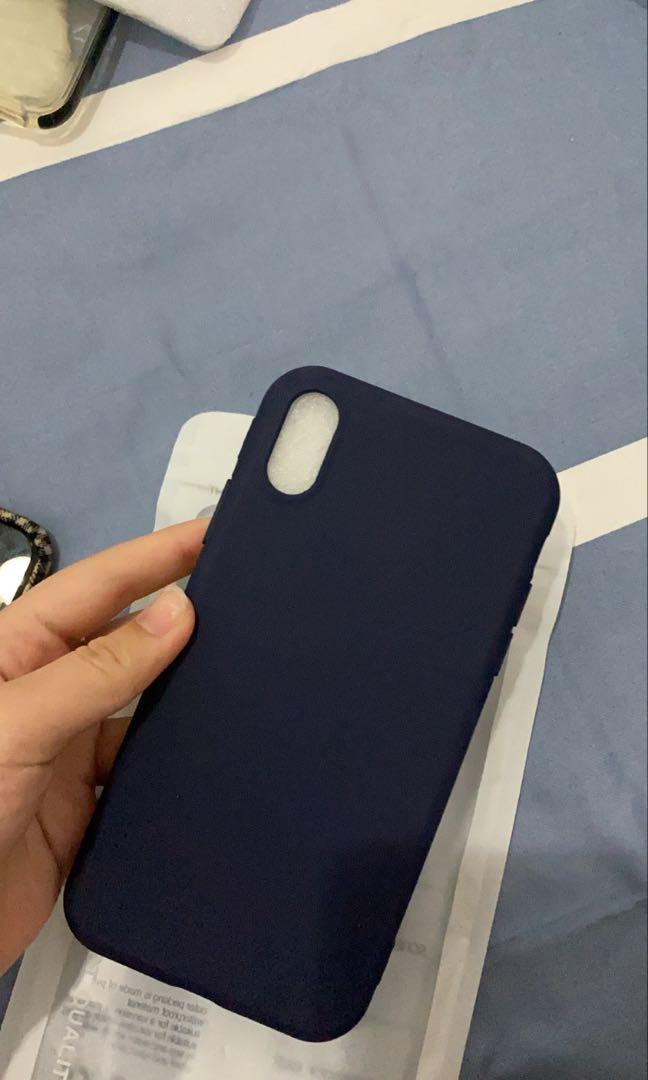 Soft case iphone xr navy polos